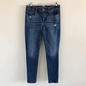 American Eagle Skinny Blue Stretch Jeans Size 8